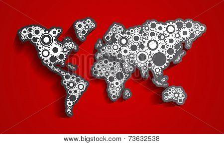 Cog Wheels World Map