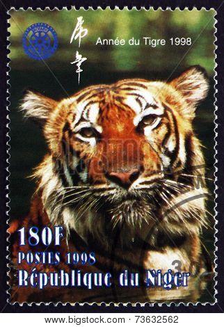 Postage Stamp Nigeria 1998 Tiger, Panthera Tigris, Wildlife