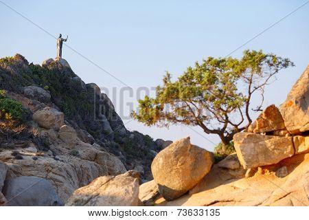 Rocks At Cala Sinzias Beach On Sardinia Island
