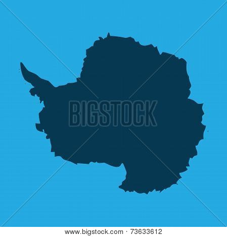 Illustration Of The Continents Of The World On White Background - Antarctica