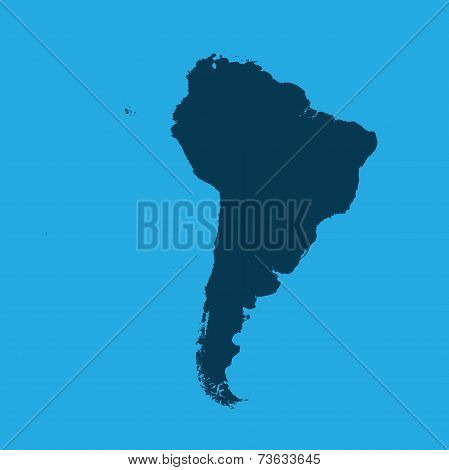Illustration Of The Continents Of The World On White Background - South America