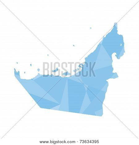 Illustration Of A Colourfully Filled Outline Of United Arab Emirates