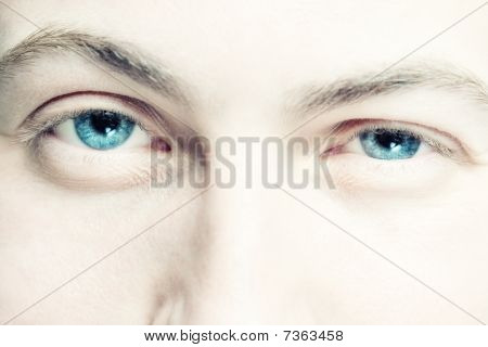 Blue Eyes of young man