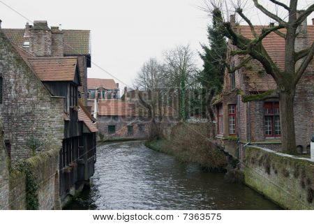 Canal Scene Bruges, Belgium