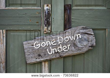 Gone Down Under.
