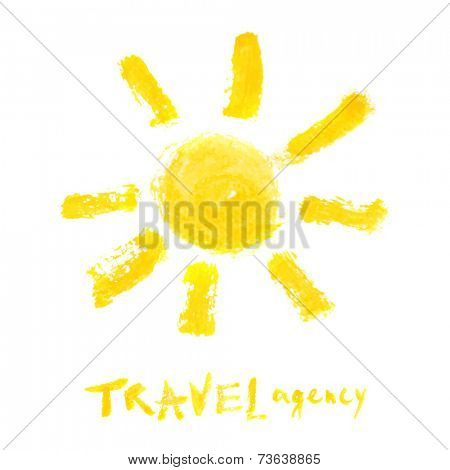 travel agency watercolor logo template