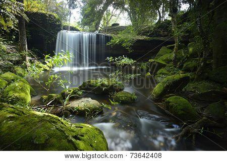 Waterfall  in Phu Kradueng national park