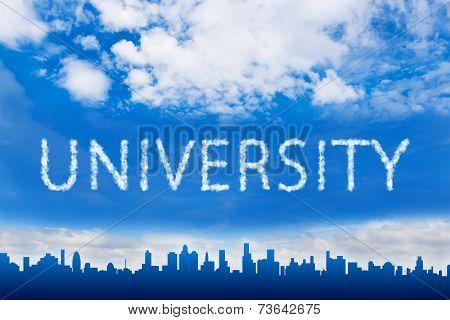 University Text On Cloud