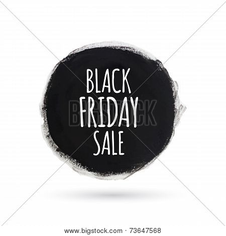 Black friday sale round watercolor banner