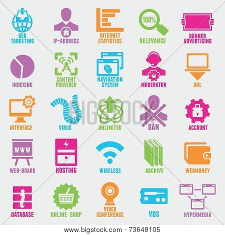 Set Of Seo And Internet Service Icons - Part 5