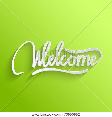 Welcome lettering Greeting Card