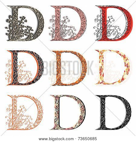 Various Combination Fishnet Letter D.