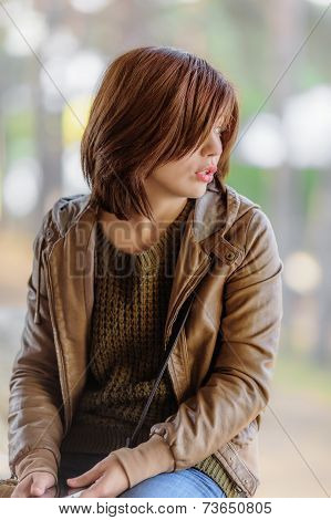 Brown Hair Young Woman