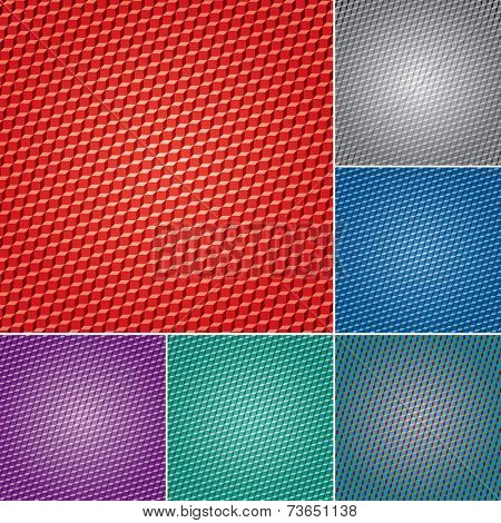 set of vector abstract geometric backgrounds with cubes