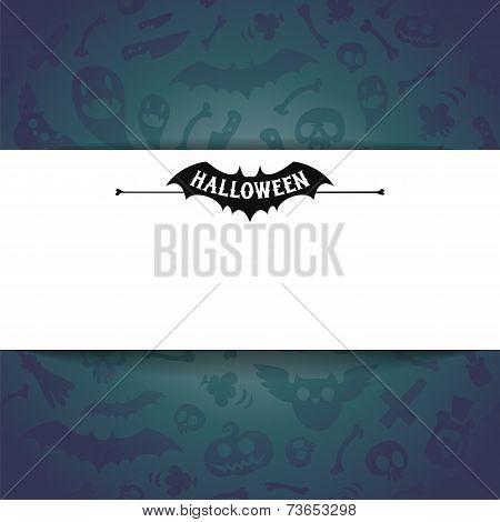 White Paper Sheet On Dark Halloween Background