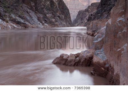 Colorado River Running Through Grand Canyon National Park