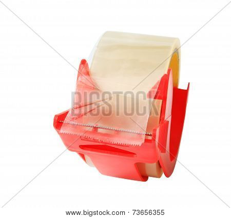 Sticky Or Scotch Tape Isolated On White