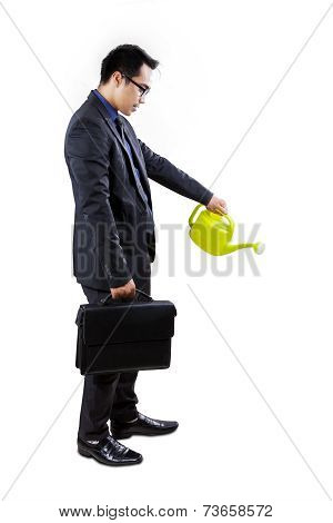 Businessman Nurture Something