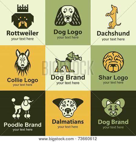Dog Icons Vector Set