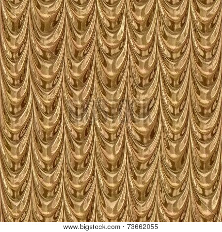 Golden Drapery Seamless Generated Texture