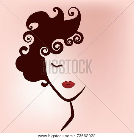Woman beauty icon decal