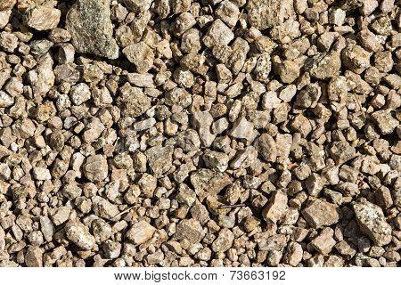 Natural Texture. Closeup Of Gravel