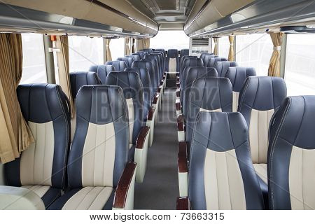 Row Of Seats In Public Bus
