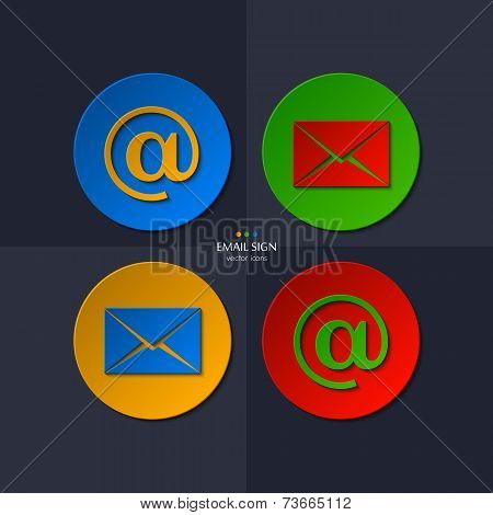 Vector set of email icon.
