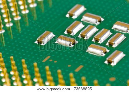 Small SMD capacitors on processor.