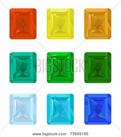 Set gemstones