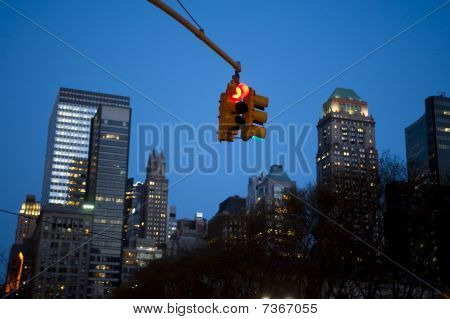 Stoplight, New York City, Night