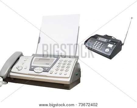 fax machine under the white background