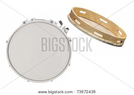 The image of drum under the white background
