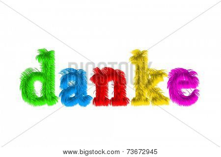 danke, Thank You Hand lettering Greeting Card Typographical Background