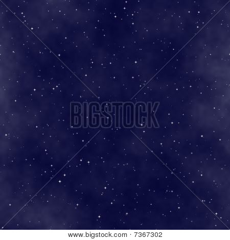 Starry Night Sky Seamless Pattern