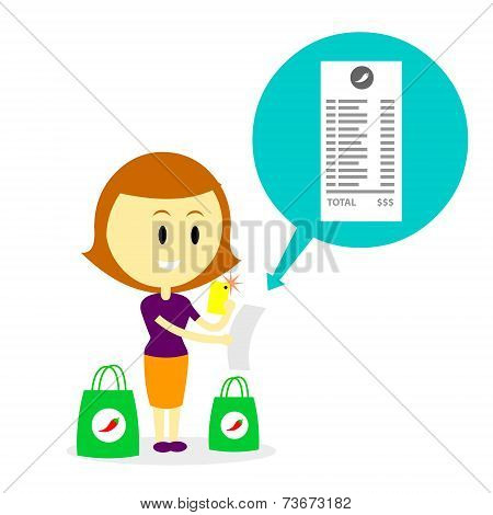 Taking Photo of Grocery Receipt