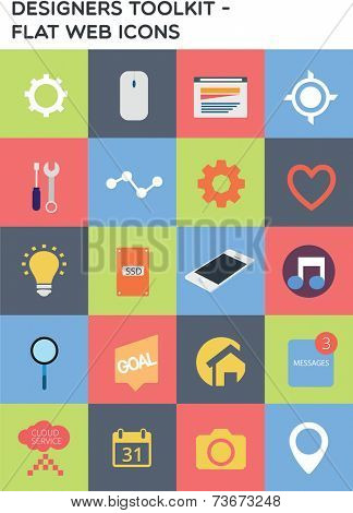 Designers toolkit - Flat web icons