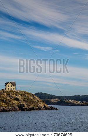 Rugged shoreline in Trinity Bay, Newfoundland,  Canada.
