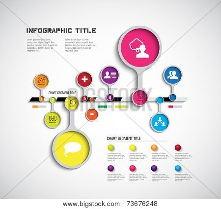 Timeline infographic, flat template, vector
