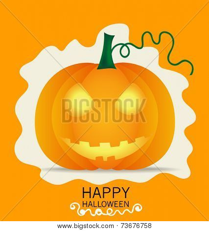 Happy Halloween design background with Halloween pumpkin. Vector illustration.