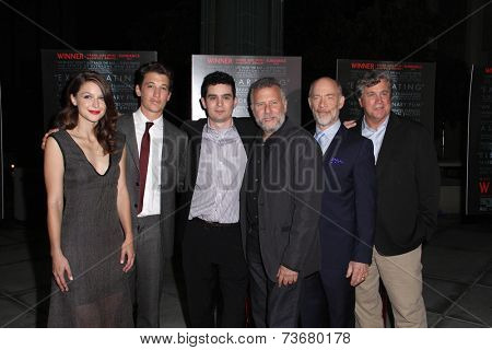 LOS ANGELES - OCT 6:  Melissa Benoist, Miles Teller, Damien Chazelle, Paul Reiser, JK Simmons at the