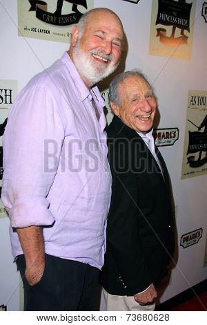 LOS ANGELES - OCT 6:  Rob Reiner, Mel Brooks at the