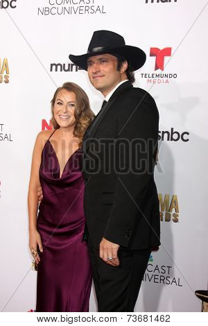 LOS ANGELES - OCT 10:  Alexa Vega, Robert Rodriguez at the 2014 NCLR ALMA Awards Arrivals at Civic Auditorium on October 10, 2014 in Pasadena, CA