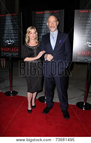 LOS ANGELES - OCT 6:  Michelle Schumacher, J.K. Simmons at the