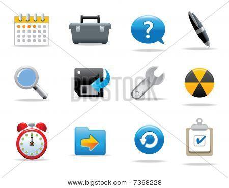 Web icons and symbols