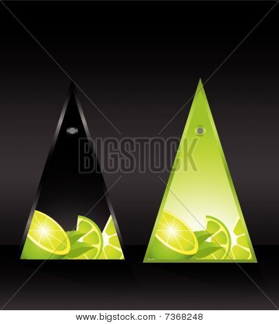 card with lemon