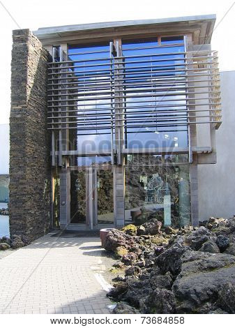 Entrance to famous Blue Lagoon Geothermal Spa in Iceland