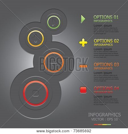 Modern Button Circle Business Infographic