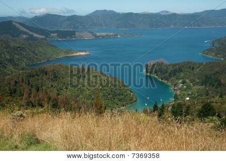 Scenic view in Marlborough Sounds.