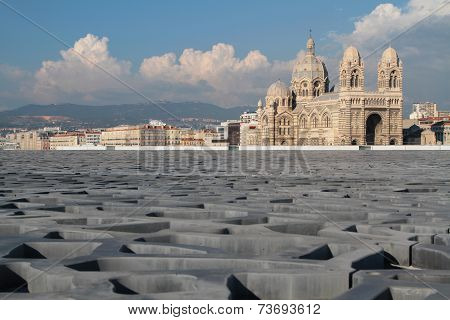 Marseille, France, October 2, 2014 : The Roof Of Fibre-reinforced Concrete Of The Museum Of European